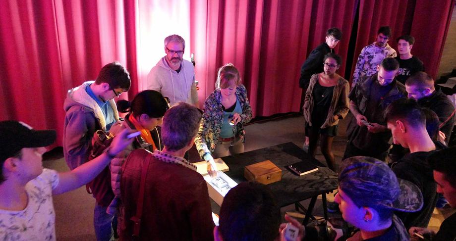 Le spectacle LAB FAB ART créé par Christian Geffroy Schlittler et Julie-Kazuko Rahir, au CFPT en mars 2017
